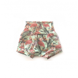Baby shorts flamingos
