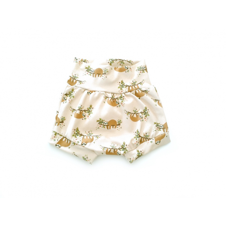 Baby shorts bees and flowers