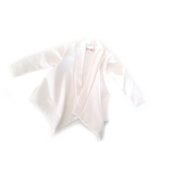White French terry baby vest