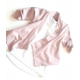 Old pink french terry baby vest