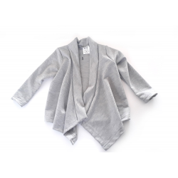 Gray french terry baby vest