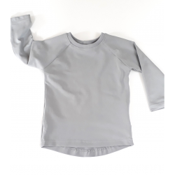 Basic gray stretch long sleeves