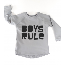 Girls/Boys rule t-shirt navy blue