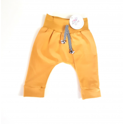 Baby pants french terry Ocher yellow
